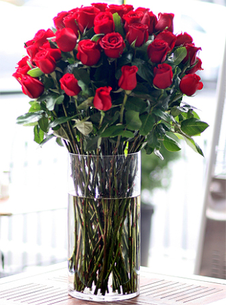 5 Dozen Roses Arranged