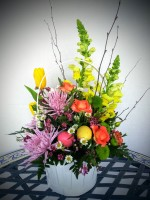 Floral Grouping Easter Basket