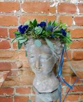 Blue Succulent Floral Crown