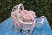 Baby Girl Carriage Preserved Roses