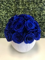 Rose Ball Royal Blue Preserved Roses