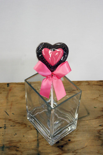 Chocolate Heart Lollipop