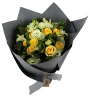 MGM Gift-wrapped Mixed Yellow Rose Bouquet