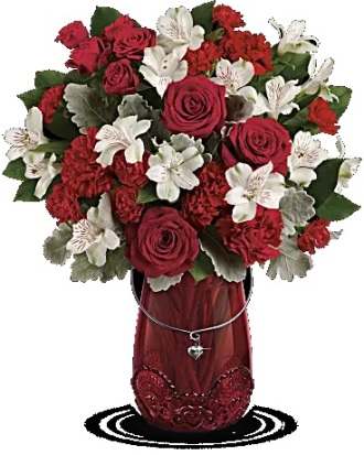 Teleflora\'s Red Haute Bouquet