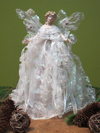 White Ornimental Angel 15 inch
