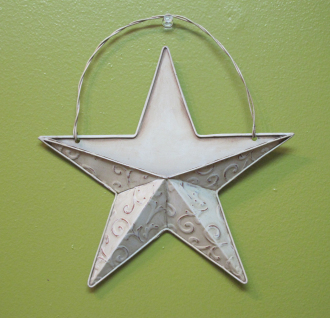 Small White Wall Star with Opening