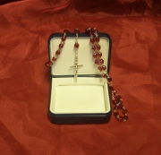 HOLY SPIRIT RED AB ROSARY