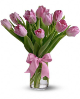 Precious Pink Tulips arranged in a Vase