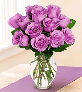 Medium Stemmed Lavender Rose Vased