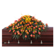 CARISMA FLORISTS® Cherry Brandy Casket Spray CFF-043