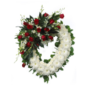 CARISMA FLORISTS® White Open Heart with Roses