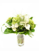 The white and green bouquet