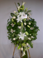Victorian Wreath  all white