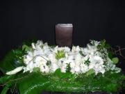 All White Urn Arrangement