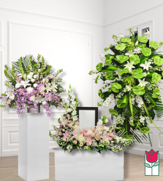 beretania florist funeral package 1001 honolulu hawaii funeral flower delivery sympathy flowers