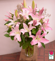 Beretania's Pink Lily Bouquet