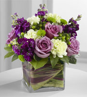 Send Beautiful PURPLE, WHITE, and GREEN FLOWERS Today with Sunnyslope Floral a LOCAL Grand Rapids Florist Mixed Flowers