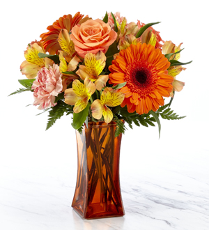 Orange Essence™ Bouquet- VASE INCLUDED
