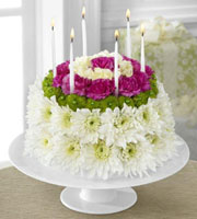 Send a BIRTHDAY CAKE Floral Arrangement to a SPECIAL person SAME DAY Delivery with Sunnyslope Floral in Grand Rapids Metro Area