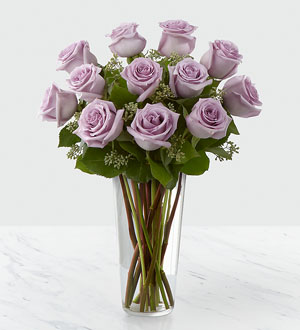 Dozen Lavender Roses arranged for DELIVERY SAME DAY by Sunnyslope Floral in Holland, Rockford, Grand Rapids & Byron Center
