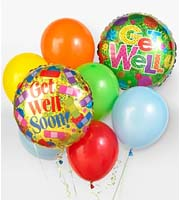 Find and Send HELIUM MYLAR AND LATEX BALLOON GET WELL Bouquets TODAY in Greater Grand Rapids with Sunnyslope Floral