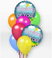 Find and Send HELIUM MYLAR AND LATEX BALLOON THINKING OF YOU Bouquets TODAY in Greater Grand Rapids with Sunnyslope Floral