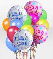Find and Send HELIUM MYLAR AND LATEX BALLOON IT'S A BOY Bouquets TODAY in Greater Grand Rapids with Sunnyslope Floral