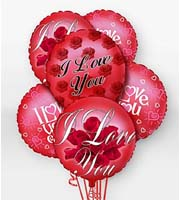 Find and Send HELIUM MYLAR AND LATEX BALLOON I LOVE YOU Bouquets TODAY in Greater Grand Rapids with Sunnyslope Floral