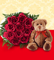 The FTD® Red Roses and Hugs ™