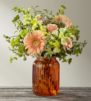 Order Peach and Green Autumn FLOWERS online to Grand Rapids Metro area with Sunnyslope Floral Beautiful Fall Bouquet