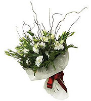 Bouquet of Lisianthus and Greens