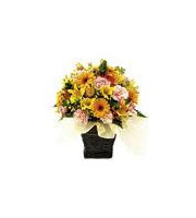 Seasonal Arrangement yellow & orange