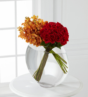 The FTD® Glorious Rose Bouquet - 18 Stems of 24-inch Premium Long-Stem Roses & Mokara Orchids