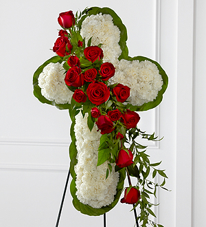 The FTD® Floral Cross Easel - Cleveland Ohio