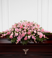 Find pink casket spray flowers and other sympathy gifts from the family online or by phone 24/7 with Sunnyslope Floral, your same day delivery florist