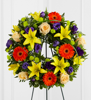 The FTD® Radiant Remembrance™ Wreath - Cleveland Ohio