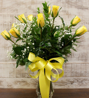 Unforgettable Dozen Rose Yellow