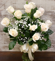 Unforgettable Dozen Rose White