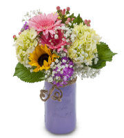 Order Mixed FLORAL Bouquet with Hydrangea, Sunflower, Carnation, Berries, Gerbera Daisy and MORE from Sunnyslope Floral