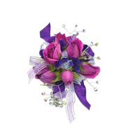 Royal Purple Wrist Corsage