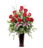 Send RED ROSES & STARGAZER LILIES to Grandville, Grand Rapids, Holland, Zeeland, Rockford & Cascade, Sunnyslope Floral