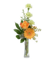 Send Simple FLORAL arrangement with ORANGE ROSE AND GERBERA DAISY Today with SAME DAY Delivery by Sunnyslope Floral