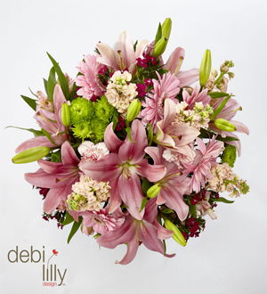 Debi Lilly Blush Garden Bouquet - No Vase