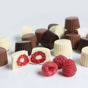 Golden Edibles™ Belgian Chocolate Covered Raspberries
