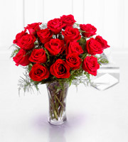 The FTD® Premium 18 Long Stemmed Red Roses Bouquet