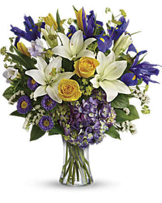 Teleflora\'s Floral Spring Iris Bouquet