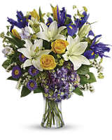Teleflora's Floral Spring Iris Bouquet
