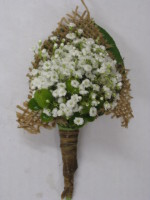 Country Babies Breath Boutonniere