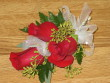 Three red rose corsage