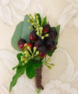 Coffee Berry Boutonniere